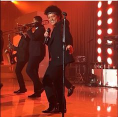 Bruno Mars performing on New Year's Eve