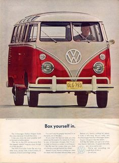1960s advert for Volkswagen's station wagon