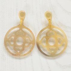 Qatar buffalo horn dangle earrings long drop hoop by Fineoxjewelry, $14.80