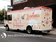 Luscious Bakery - Food Truck Wrap Design and Installation by Brands Imaging