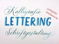 Der Unterschied zwischen Kalligrafie, Lettering und Schriftgestaltung