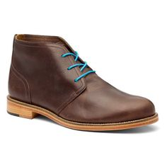 Fancy - Dark Brown Leather Chukka Boots by J Shoes