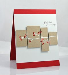 Christmas card in different colors...like the center band made up of a series of rectanglees in different sizes...