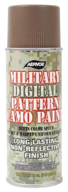 Military Camo Spray Paint - Digital Camouflage 12 Oz OD Foliage Sand Coyote USA