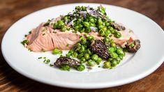 Poached Wild Salmon with English Peas on Panna: https://pannacooking.com/recipes/poached-wild-salmon-with-english-peas