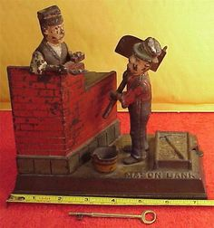 Vintage Mason HOD Carrier Shepard Hardware Mechanical Bank 1887 7 x 4 x 7inch | eBay