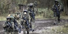 German Bundeswehr Long Range Reconnaissance soldiers at the Bundeswehr Training Grounds, October 10th, 2014. Photos by Alexander Koerner