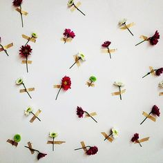 DIY Backdrop with Flowers + Washi Tape