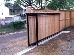 A sliding gate instead of swing-gate! For Back Yard!