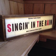 Gorgeous handmade retro illuminated cinema / concert sign made from solid wood and illuminated with soft glow lighting.  These gorgeous soft