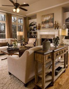 Family room ▇  #Home #Design #Decor  via - Christina Khandan  on IrvineHomeBlog - Irvine, California ༺ ℭƘ ༻