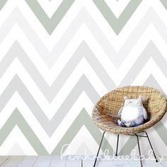 Chevron-Olive-Spring-Removable-WallPaper
