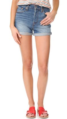 Levi's Women's Wedgie Shorts, Blue Cheer, 31