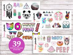 TUMBLR SET 4 SHEETS Stickers Perfect for Erin by keenaprints