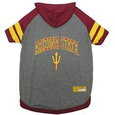 Arizona State Sun Devils Dog Hoodie T-Shirt- Pets First This sporty Hoodie  Tee Shirt features raglan sleeves 6b0a268eb