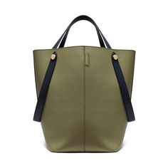 New Edition!2016 Mulberry Handbags Collection Outlet UK-Mulberry Kite Tote Khaki & Midnight Flat Calf