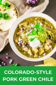 Who loves comfort food? This Colorado style pork green chile is full of tender, flavorful pork shoulder with the perfect level of spice. It's the perfect fall recipe. #greenchilerecipes #greenchilestew #greenchilepork #greenchilirecipes #comfortfood #porkgreenchili #chilirecipe #fallrecipes #bestgreenchilirecipe #bestchilirecipe Green Chili Recipes, Best Chili Recipe, Pork Recipes, Fall Recipes, Spicy Recipes, Delicious Recipes, Pork Green Chile, Pork Shoulder Roast, Tailgating Recipes