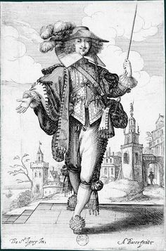 Abraham Bosse 1629 again, isn't he precious with his whip? 17th Century Clothing, 17th Century Fashion, 16th Century, Illustrations, Illustration Art, Luis Xiv, Mode Vintage, Men's Vintage, Vintage Dress