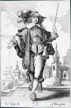 Abraham Bosse d'après Jean de Saint-Igny (v. 1597-1647)  Le Jardin de la noblesse française, 1629: L'Homme à la cravache