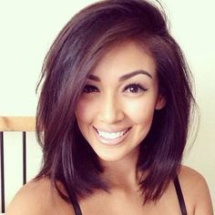 One of the best layered bob for older women styles is definitely the long bob style. Long bob is very chic, simple, yet elegant. Long bob is very. Medium Hair Cuts, Medium Hair Styles, Long Hair Styles, Thin Hair Styles For Women, Short Hair Cuts For Women With Round Faces, Short Hair For Round Face Plus Size, Round Face Haircuts Medium, Short Hair Side Part, Med Long Hair Cuts