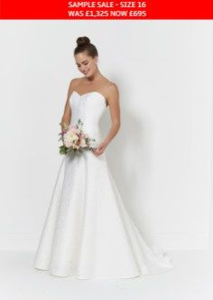 Ebony is a stunning wedding dress in a brocade fabric in a size 16 was priced at and is now an amazing Also available new, in all sizes, at the full price until the end of September at Honeyblossom Bridal boutique xx Simple Wedding Gowns, Wedding Dress Styles, Simple Weddings, Bridal Dresses, Brocade Fabric, Bridal Boutique, Size 16, One Shoulder Wedding Dress, Strapless Dress