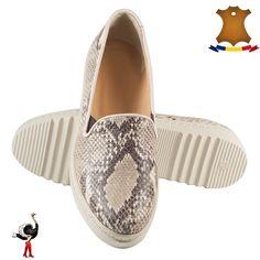 Poze Pantofi femei din piele naturala DAISY bej sarpe