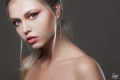 Red smokey eye makeup from LMI students! #makeup #eyeshadow #red #fashion #beauty #blonde