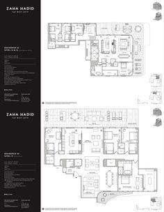 520 W Street by Zaha Hadid Residence 32 & 34 Zaha Hadid Architecture, Architecture Plan, Architecture Details, Architecture Portfolio Layout, Portfolio Design, Title Block, Interior Design Presentation, Construction Documents, Hotel Room Design