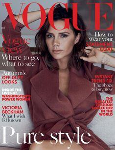 Victoria Beckham, Vogue Magazine [United Kingdom] (October 2016)