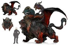 Final Fantasy Creature Concept Art | Final Fantasy Chimera