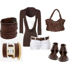 brown leathers.