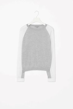 Poplin sleeve jumper