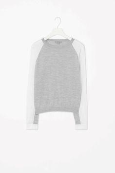 Poplin sleeve jumper