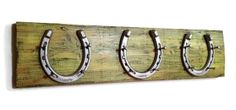 Horseshoe Jewelry Organizer...Horseshoe Necklace Holder...Necklace Hanger...Rustic Home Decor...