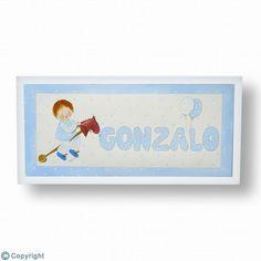 Cuadro infantil personalizado: con el nombre y una silueta (ref. 10205)