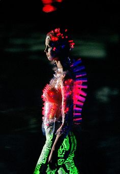 McQueen's tenure as creative director at Parisian house Givenchy – he produced his first collection in January 1997 and his last in March 2001 – was not an easy ride for either party. Many considered McQueen's work to be too edgy, too fantastical. This look, from autumn/winter 1999, complete with circuit-board bodice, is hardly the kind of LBD historically associated with the French couture house