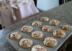 Strawberry Whole Wheat Muffins