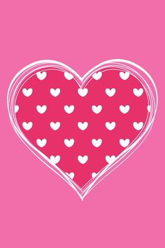 A PINK PAPER WITH A CUT OUT HEART. INSIDE THIS HEART IS A DIFFERENT COLOR OF PINK WITH LITTLE WHITE HEARTS.