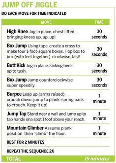 Sounds like a great cardio workout.  Only one I'm not sure of is Mountain Climber, but I will figure it out.