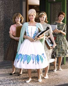 tv/movies: the remake of hairspray is one of my favorite movies and the reason why is the clothing.  the 50s is my favorite time period because of the incredible sillouhettes.  I'm not an expert but the movie did a great job recreating those big dresses.
