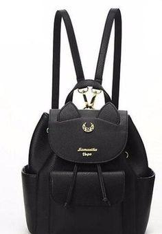 d6fb26f65 Sailor Moon Luna Backpack Cat Backpack, Black Backpack, Sailor Moon Luna,  25th Anniversary
