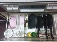 スキットを使用した鍋・フライパン収納 美しい暮らしのエッセンス