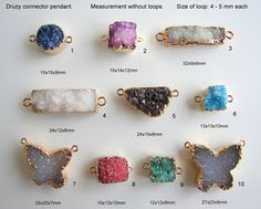 Natural Druzy Drusy Connector link Pendant by ANJewelryAndSupplies Druzy Jewelry, Round Pendant, 9 And 10, Triangle, Quartz, Pendants, Stud Earrings, Crystals, Link