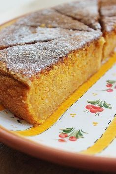 Carrot and Almond torte Portuguese Sweet Bread, Portuguese Desserts, Portuguese Recipes, Köstliche Desserts, Delicious Desserts, Yummy Food, Sweet Recipes, Cake Recipes, Dessert Recipes