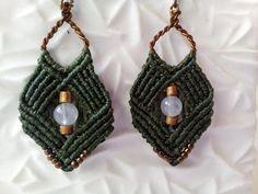 Pendientes de macrame de ágata joyería de macrame por PenelopeKnots