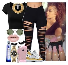 """""""Out with my Gang ✔️"""" by saucinonyou999 ❤ liked on Polyvore featuring J.TOMSON, A.J. Morgan and Rolex"""