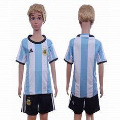 Argentina Trøje Børn 2016 Hjemmebanetrøje Kort ærmer