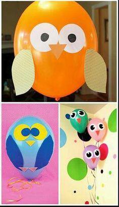 Owl Balloon, cute, this inspires more ideas!