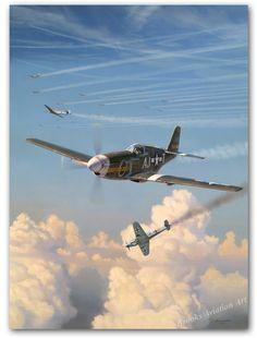 Aviation Art Prints Alabama Rammer Jammer by Jim Laurier P-51 Mustangs
