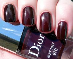 Dior Nuit 1947 - Swatches and Comparison with Chanel Rouge Noir | Pointless Cafe